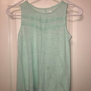 Girl's Mint green sleeveless top with detailing